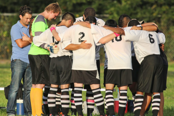 IMG_3320 copy Mens Soccer Team Praying before a Game